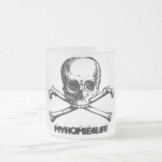 Skull Bone Glass Frosty Mug