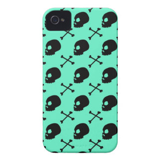 Skull & Bones - Faded Pastel Teal iPhone 4 Case