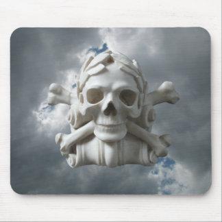 Skull & Bones Skeleton against Storm Sky Mousepad