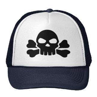 Skull bones trucker hat