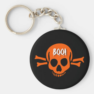 Skull boo halloween key chain