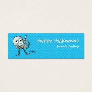 Skull bookmark Blue Mini Business Card