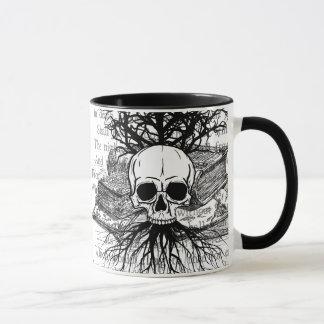 Skull & Books Mug
