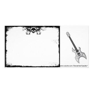 Skull border/Guitar Card