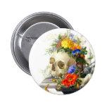 Skull Bouquet Button