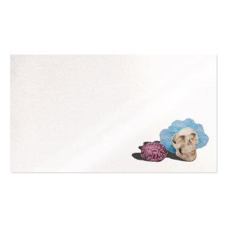 Skull brain hairnet business card
