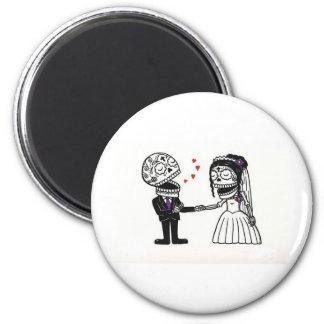 Skull Bridal Couple Magnet