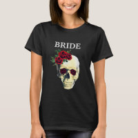Skull Bride Wedding Goth Party Shirt