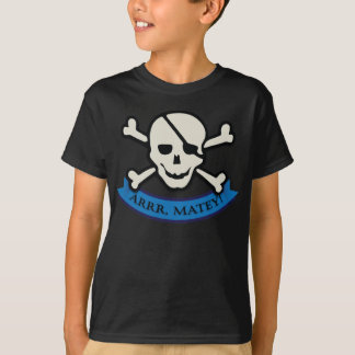 Skull - Brown Kids' Basic Hanes Tagless T-Shirt