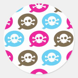 Skull Bubbles Classic Round Sticker