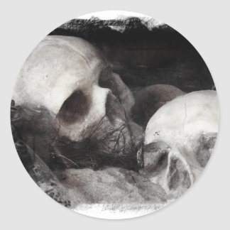 Skull Buddies Classic Round Sticker