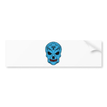 Halloween Themed Skull Bumper Sticker