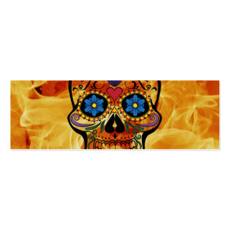 Skull Double-Sided Mini Business Cards (Pack Of 20)