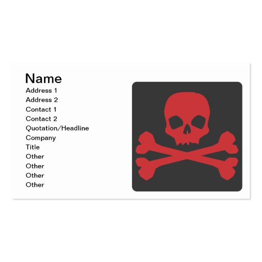 Skull Business Cards