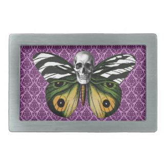 Skull Butterfly Belt Buckle