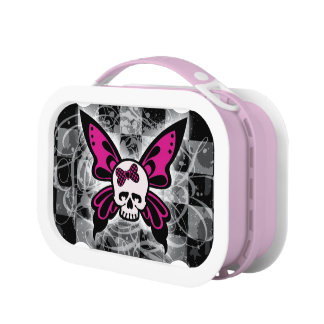 Skull Butterfly Lunch Box