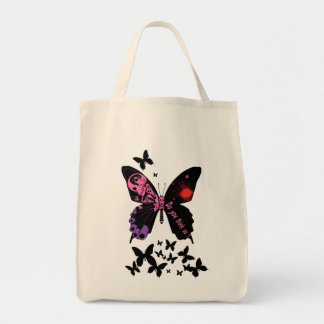 Skull butterfly (purple × pink Tote Bag