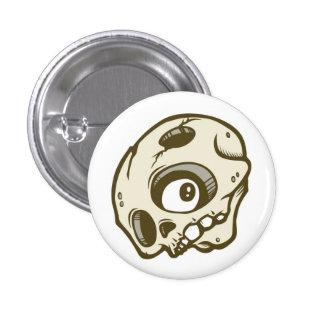 Skull 1 Inch Round Button