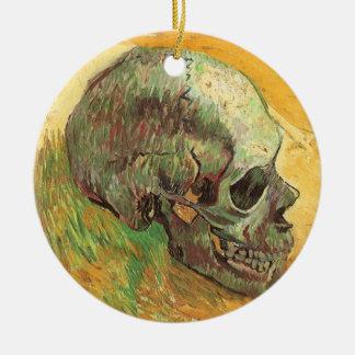 Skull by Vincent van Gogh, Vintage Impressionism Ceramic Ornament