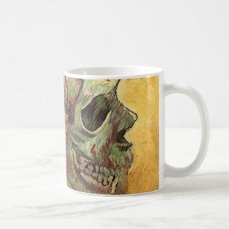 Skull by Vincent van Gogh, Vintage Impressionism Coffee Mug