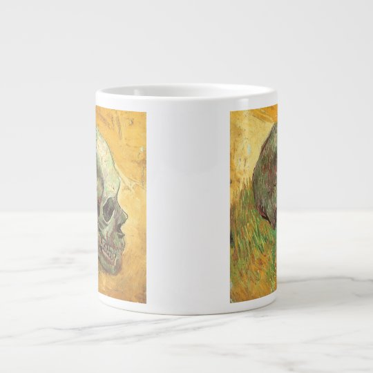 Skull by Vincent van Gogh, Vintage Impressionism Giant Coffee Mug