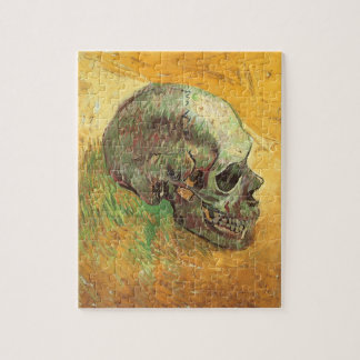 Skull by Vincent van Gogh, Vintage Impressionism Jigsaw Puzzle