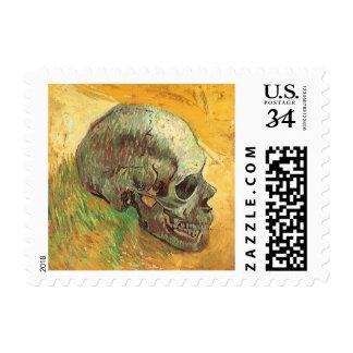 Skull by Vincent van Gogh, Vintage Impressionism Postage