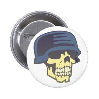 Skull calavera cráneo casco helmet pin redondo de 2 pulgadas