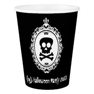 Skull Cameo Paper Cup
