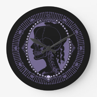 Skull Cameo Silhouette Large Clock
