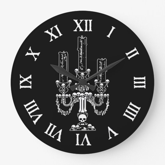 Skull Candelabra Large Clock