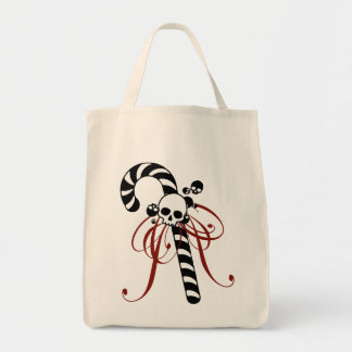 Skull Candy Cane Tote Bag