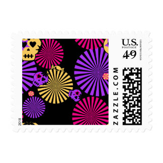 Skull & Candy Kitsch Day of the Dead Stamp