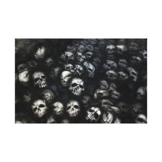 Skull capa de país impresiones en lienzo estiradas