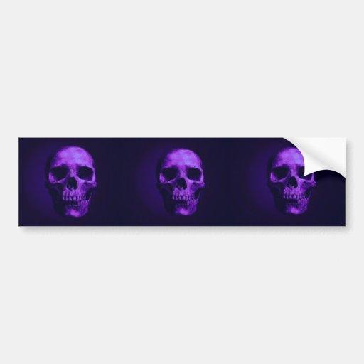 Skull Car Bumper Sticker