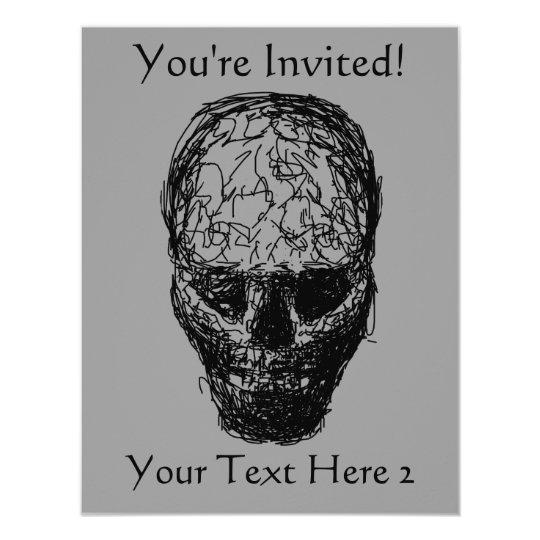 Skull. Card
