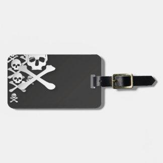 skull case bag tag