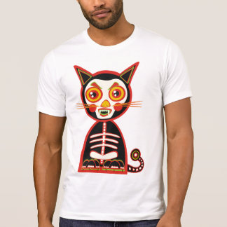 Skull Cat Retro Style T-Shirt