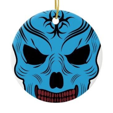 Halloween Themed Skull Ceramic Ornament