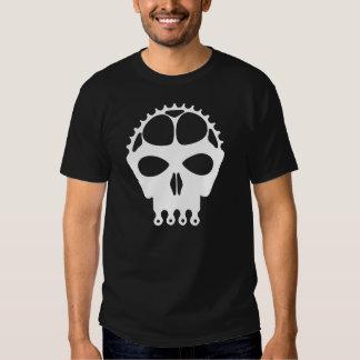 Skull Chainring - White T Shirt