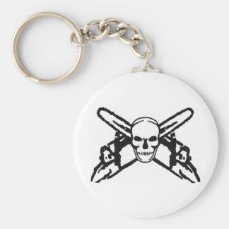 Skull & Chainsaws Keychain