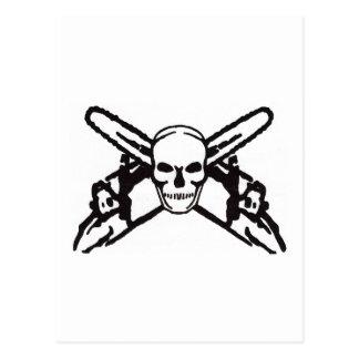 Skull & Chainsaws Postcard