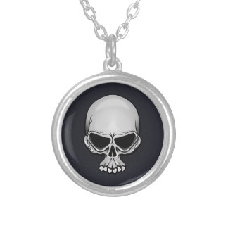 Skull charm 11. silver plated necklace