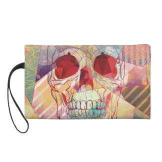 Skull Cheerleader Camp Wristlet Purse