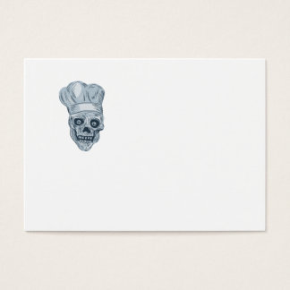Skull Chef Cook Drawing Business Card