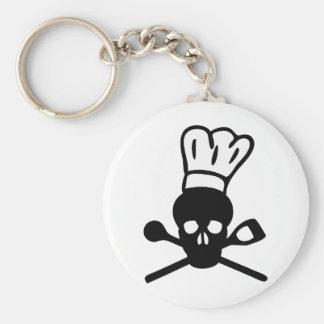 skull chef icon keychain