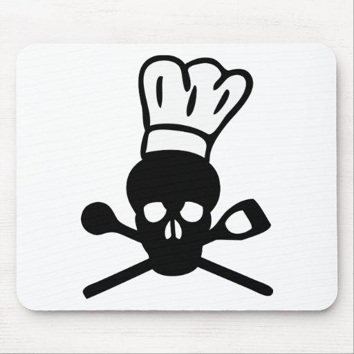 skull chef icon mousepad