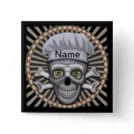 Skull Chef square pin