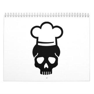 Skull chefs hat calendar