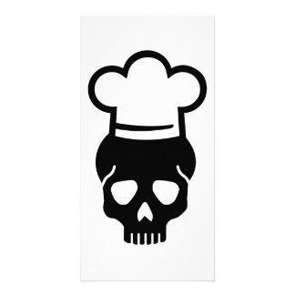 Skull chefs hat card